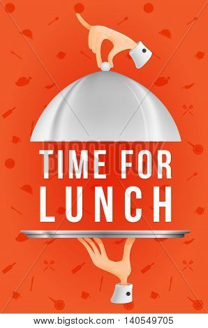 Time for lunch. template design. Vector illustration