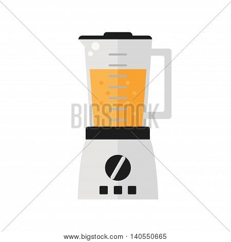 Blender isolated icon on white background. Fresh smoothie. Flat style vector illustration.