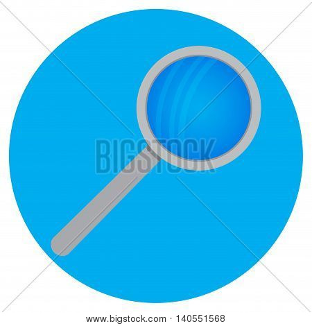 Magnifying glass icon. Zoom glass lens magnify for exploration and research vector illustration