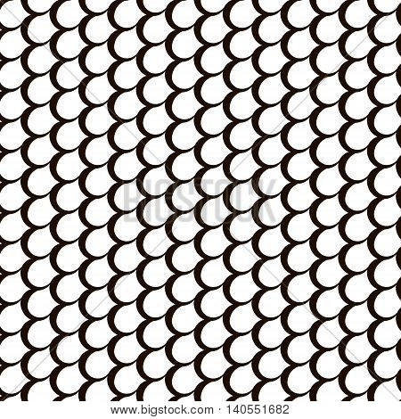 Fish skin repetition texture. Modern scale stylish texture. Repeating geometric background with circles.