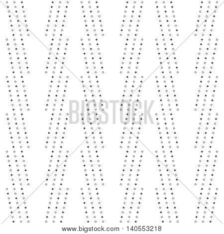 Classical seamless pattern. Modern stylish geometric texture. Regularly repeating stripes with small rhombuses. Vector abstract background