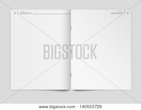 Blank newspaper template on gray background. Vector illustration. EPS10.