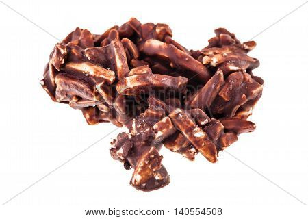 Nut Pralines On White
