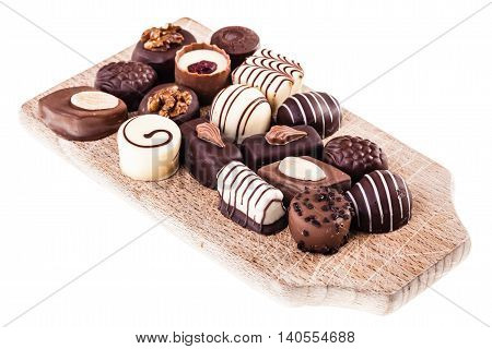 Pralines On A Cutting Board