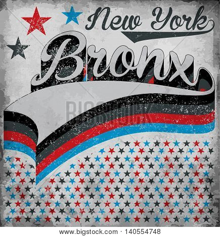 College New York Bronx typography t-shirt graphics vectors