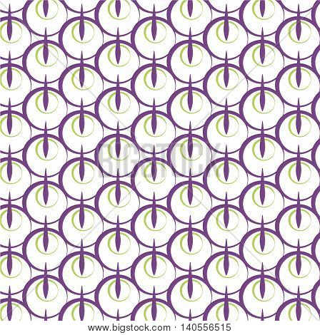 Print circle lines mosaic repetition pattern. Vector pattern illlustration. Texture paper violet green abstract simple design