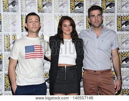 LOS ANGELES - JUL 21:  Joseph Gordon-Levitt, Shailene Woodley & Zachary Quinto arrives to the Comic Con 2016 -
