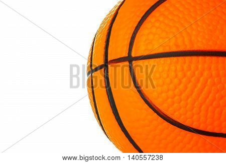 Orange Basket Ball Close-up As A Background.