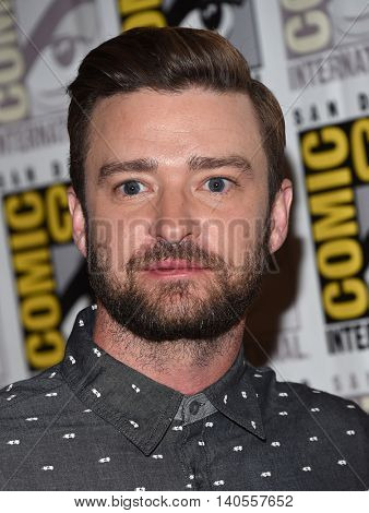 LOS ANGELES - JUL 21:  Justin Timberlake arrives to the Comic Con 2016 - Trolls PhotoCall on July 21, 2016 in San Diego, CA