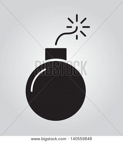 Bomb Icon Flat