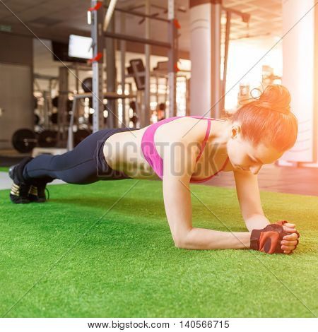 Woman Fitness Training In The Gym