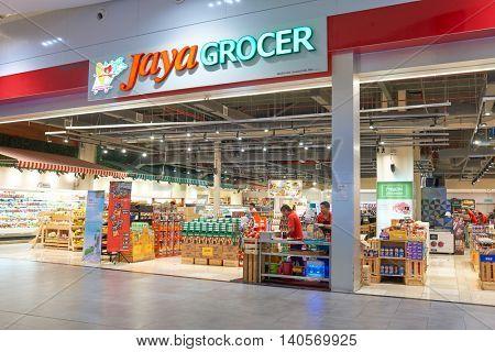 KUALA LUMPUR, MALAYSIA - CIRCA MAY, 2016: a grocery store in Kuala Lumpur. A grocery store is a retail store that primarily sells food.