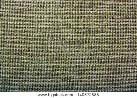 Natural Linen Green Dark Material  Background