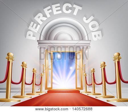 Perfect Job Red Carpet Door