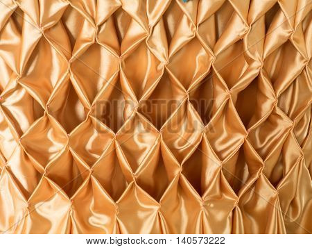 close up Golden Matching Fabric, beautiful background.