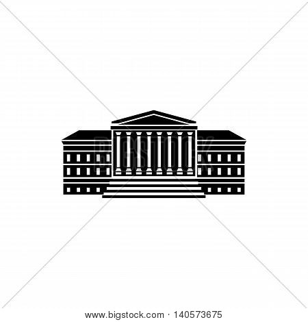 Government building with columns icon in simple style on a white background