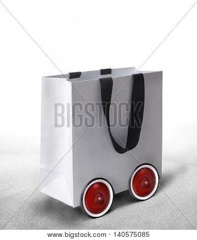 Wheeled shopping bag