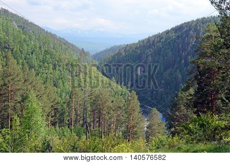 Ikhe-Uhgun River valley in spurs of the East Sayan. Buryatia