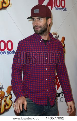 NEW YORK-DEC 12: Singer Adam Levine of Maroon 5 attends Z100's Jingle Ball 2014 at Madison Square Garden on December 12, 2014 in New York City.