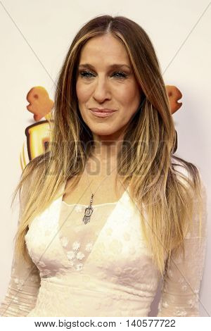 NEW YORK-DEC 12: Actress Sarah Jessica Parker attends Z100's Jingle Ball 2014 at Madison Square Garden on December 12, 2014 in New York City.