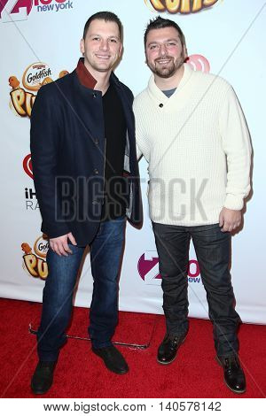 NEW YORK-DEC 12: Albie Manzo (L) and Chris Manzo attend Z100's Jingle Ball 2014 at Madison Square Garden on December 12, 2014 in New York City.
