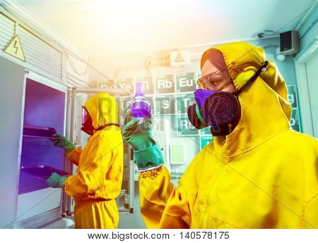 Man and woman cooking meth