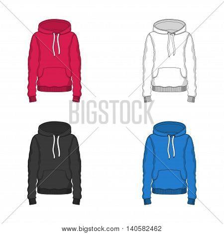 Vector Hoodie red blue black white clothing hood