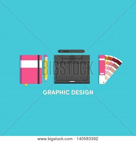 Vector illustrations for designer notebook tablet graphic panton