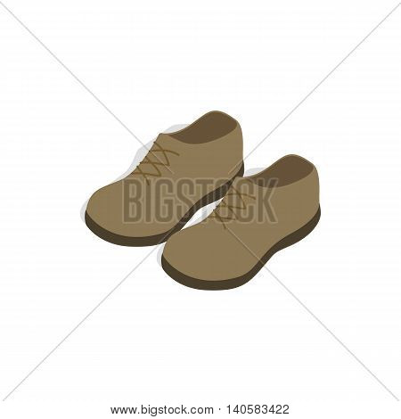 Male shoes icon in isometric 3d style on a white background