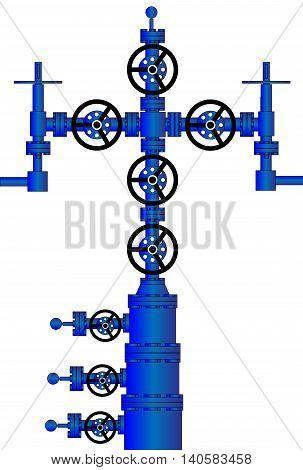 Wellhead and Christmas Tree Oil Well (Xmas) - One of Wellhead Equipment