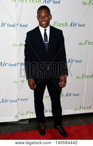 NEW YORK-MAY 29: Victor Cruz attends the Fresh Air Fund Spring Gala Salute at Pier Sixty at Chelsea Piers on May 29, 2014 in New York City.