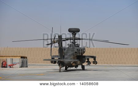 Apache helicopter in Camp Bastion [Afghanistan]