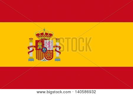 Illustration of the national flag of Spain