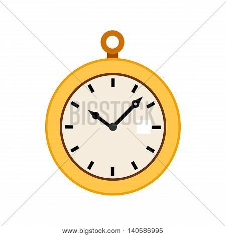 Pocket watch icon in flat style on a white background