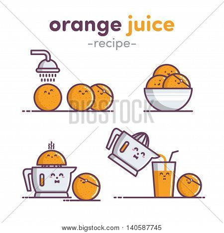 Illustration Orange Juice