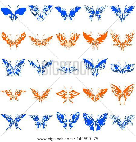 Fantastic Butterflies Vector Clipart includes 25  beautiful images of butterflies. Intricate curves of the wings, an amazing diversity of forms, elegant and dainty lines.