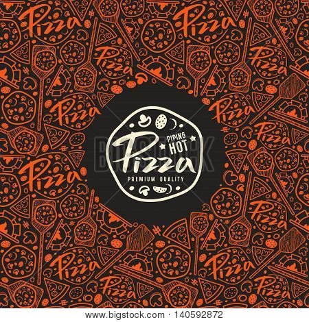 Stock Vector Pizza Cover For Boxes