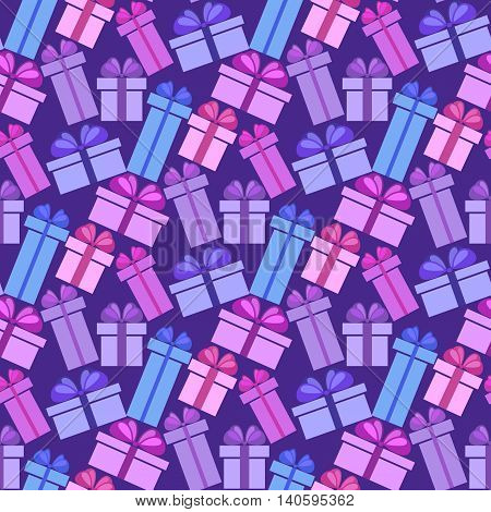 Gift Boxes Seamless Pattern