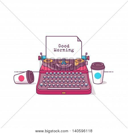 Color Illustration Good Morning