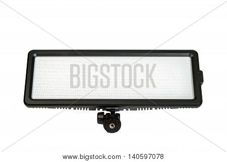 LED lighting for cinematography and photography isolated on white background.