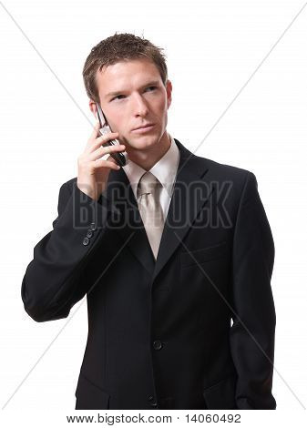 businessman talking with cellphone