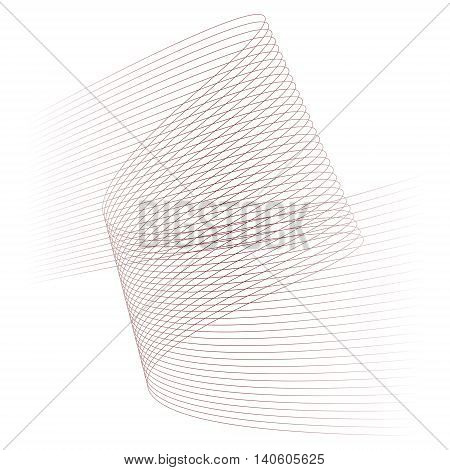 Abstract lines background in burgundy red color on white. Vector illustration.