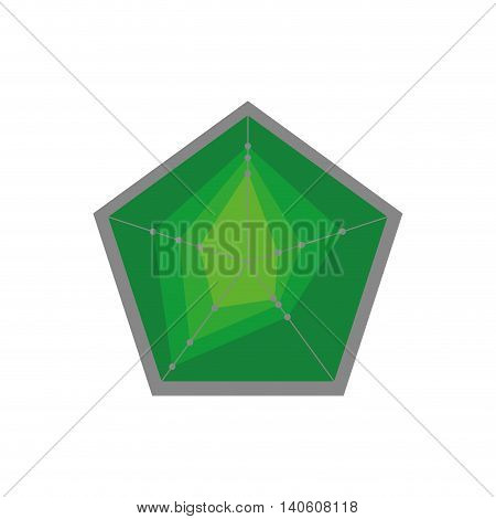 Shape concept represented by Pentagon icon. Isolated and flat illustration