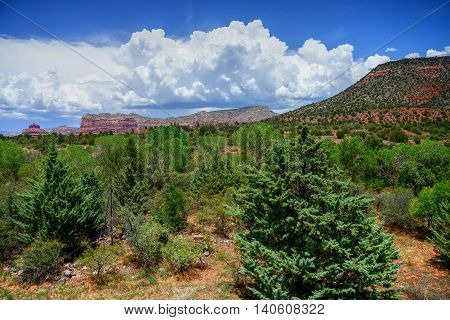 Red Rock country mountains surrounding Sedona Arizona
