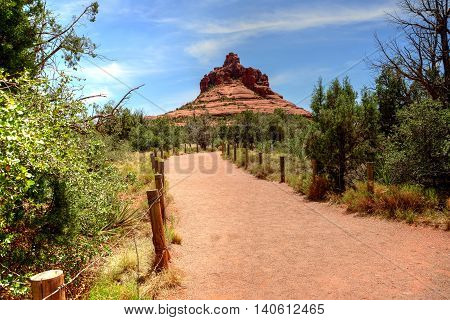 Bell Rock Red Rock country mountains surrounding Sedona Arizona