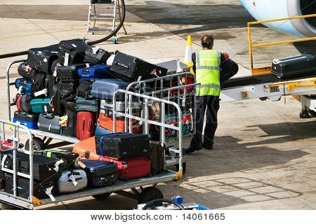 Case. Luggage when loaded