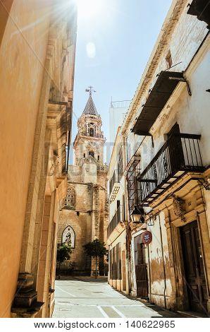 Street of Jerez de la Frontera, Andalusia, Spain