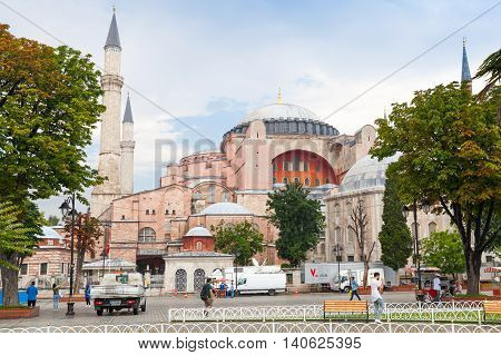 Street View Of Hagia Sophia, Istanbul, Turkey