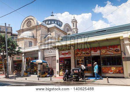 People Walk On Street Of Istanbul, Turkey