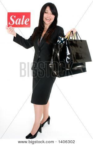 It'S Sale Time - Woman With Shopping Bags